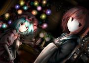 深夜の古明地・スカーレット姉妹(影ありバージョン)