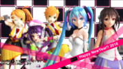 【MikuMikuDance】Happy New Year 2016【MMD年賀状2016】