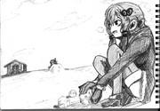 2B鉛筆で、結月ゆかり描いてみた【その17】+ちっちゃい琴葉茜