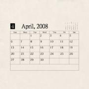 『京都伏見高校自転車競技部 部室』の差し替えテクスチャ カレンダー4月
