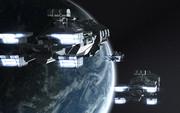 ポリゴン惑星と宇宙船