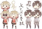 ぷにCEVIO、ONE、たかはし 立ち絵素材(各22種)
