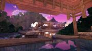 【Minecraft】露天風呂と夜明け【英語を勉強できる街 つくりませんか?】