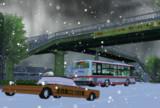 雪道のこたつむり