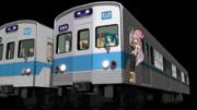 営団5000系ステンレス作ったよ(MMD鉄道改造品)