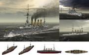 MMD用モブ装甲巡洋艦1915セット