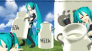 ミルク缶っぽいものを配布