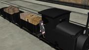 三日月の貨物列車