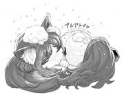 大寒波中の影狼たん