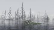 【MMDステージ配布】霧の枯木 NN3【スカイドーム】