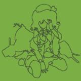【minecraft】鹿島(大破)【線画ドット絵】