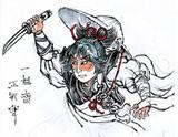 【浮世絵】小夜左文字:画稿【刀剣乱舞】