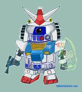 R2-D2ガンダムパーツ装着verを考えて描いてみた