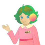 JR8DAGのAM & QRP ホームページの公式イメージキャラクターのゆめこ(春服(1))
