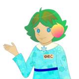 JR8DAGのAM & QRP ホームページのイメージキャラクターのゆめこ(春服(2))