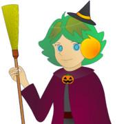 JR8DAGのAM & QRP ホームページのイメージキャラクターのゆめこ(ハロウィン衣装)
