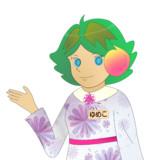 JR8DAGのAM & QRP ホームページのイメージキャラクターのゆめこ(秋服(2))