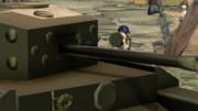 地雷を敵の上に置く