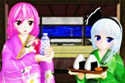 和菓子と緑茶と半霊と亡霊