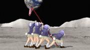 月面の星条旗