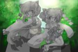 【線画交換企画用】狛犬っこ_塗り絵【テーマ:和】