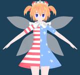 東方MMD 95位のサニーちゃんが上位の妖精の衣装を着てみたようです