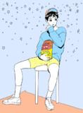 模写:ポテチと男の子