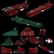 【モデル配布】ゲルバデス級航宙戦闘母艦