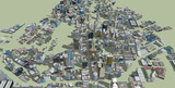 MMDオークランドが出来てきました。その50 建物のテクスチャ貼り付けが完了しました!