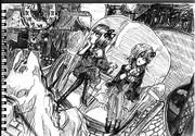 2B鉛筆で、結月ゆかり描いてみた【その25】+琴葉茜+白馬