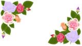 【フリー素材】バラの枠