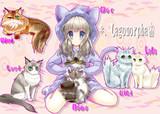 生主と猫ちゃん達を描いてみた
