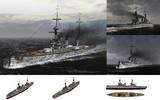 MMD用モブ巡洋戦艦1908セット
