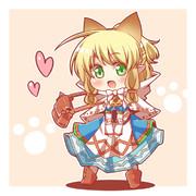 ネコ嬢練習(塗り)