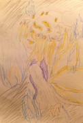 楽描き34 鬼火と藍様