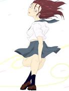【風のいたずら】スカート・ガード【逆関節脚女子】