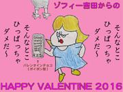 ゾフィー吉田からのバレンタインチョコ(ポイポン型)