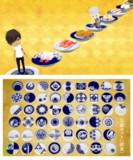 白と藍の豆皿セット(日本号・髭切・膝丸追加)
