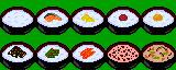 ドット絵美味しく打ちたい #ご飯10種