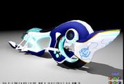 ブルーローズのバイク