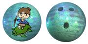 浦島太郎と亀のボウリングボール
