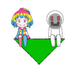 【GIFアニメ】ゆらゆらナナコとニコル