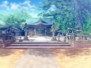 背景素材「神社・昼」