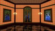 【MMDステージ配布】オレンジ色の部屋 ST37【AL対応】
