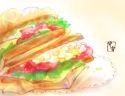 たまごとトマトのサンドイッチ