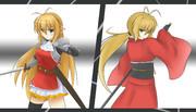 騎士マキ&和服マキ