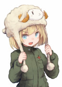 羊帽カチューシャ