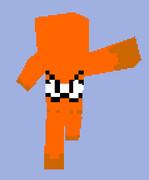 マインクラフト用イカオレンジスキン使用例