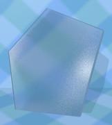 ガラスの五角形コースター