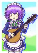 シターンを弾くAIK姉貴